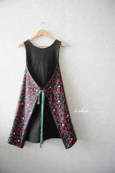화려한 4가지 앞치마를 만들었어요.          꽃으로 화려하고  색감대비로 더 화려한... Dress Sewing Tutorials, Linen Dresses, Baby Sewing, Frocks, Diy And Crafts, Dress Up, Stitch, Summer Dresses, Female