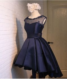 Black Satin Classy Homecoming Dress,Sexy Party Dress,Charming Homecoming Dress,Graduation Dress,Home on Luulla