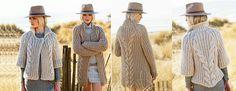 Описание вязания спицами женского кардигана из толстой пряжи английской резинкой с косами. Две модели: длинный с длинным рукавом и короткий с рукавом 3/4.