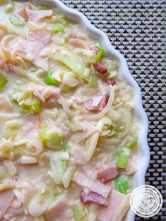 Receita de Gratinado de Alho-Poró - um prato delicioso para a Ceia de Ano Novo. #receitas #gratinado #anonovo  #ceia #ceiadeanonovo