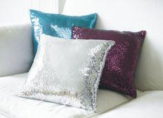 Poszewki na poduszki dekoracyjne cekiny 40x40 (2984261605) - 15 zł