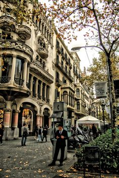 Tardor. Passeig de Gràcia, Barcelona