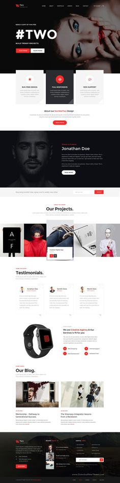 NumberTwo is stunning and intuitive #PSD #Template with 7 homepage plus #WooCommerce layouts for eCommerce website. Download Now!