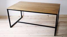 Esstische - Esstisch, Holztisch, Schreibtisch, Industrial Glam - ein Designerstück von projektdrewno bei DaWanda