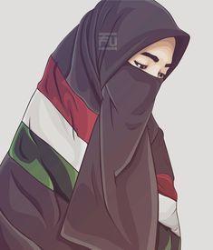 Art Girl Drawing Beautiful Faces 48 Ideas For 2019 Hijab Niqab, Muslim Hijab, Hijab Dp, Hijab Chic, Hijabi Girl, Girl Hijab, Muslim Girls, Muslim Women, Palestine Girl