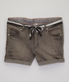Take a look at the Gray Barcelona Shorts - Girls on #zulily today!