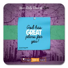 God has Great Plans for You!