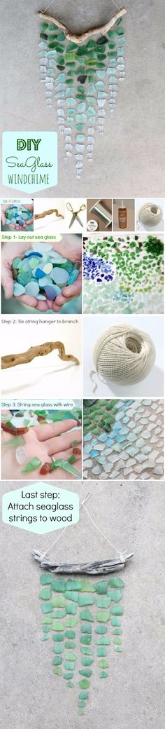 DIY Ombre Seaglass Windchime
