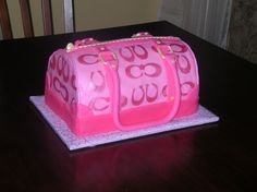 This Coach purse cake was made for a family friend who loves pink!