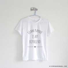 Liam Payne Is My Boyfriend T-Shirt $12.99 ; Liam Payne ; One Direction Shirt ; #1D ; Fangirl ; Graphic Tees ; Tumblr ; Teen Fashion ; Shop more #OneDirection
