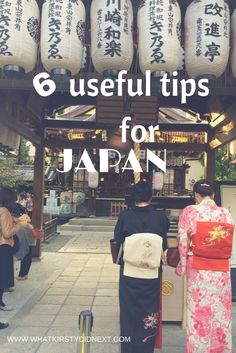 6 useful things to know when visiting Japan