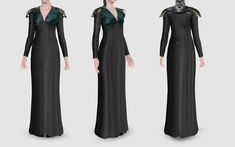 Mod The Sims - Game of Thrones: Sansa's Raven Dress Channel Dress, Game Of Theones, Sims 3 Games, Sims 4 Controls, Game Of Thrones Sansa, Sims Medieval, Sims 3 Mods, Sims 4 Mm Cc, Sims 4 Clothing