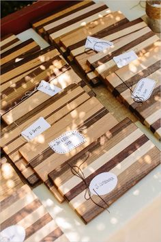 Handmade cutting board favors - would be a great idea for the foodie couple