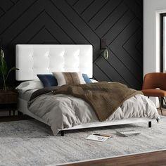 Queen Platform Bed, Platform Bed Frame, Upholstered Platform Bed, Hooker Furniture, Fine Furniture, Headboard And Footboard, Panel Bed, Living Room Grey, Bed Sizes