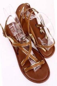 TAN GOLD TRIM MULTI FAUX LEATHER STRAP THONG SANDAL Loose Diamonds For Sale, Wholesale Gold Jewelry, Fashion Sandals, Party Shoes, Flip Flop Sandals, Leather