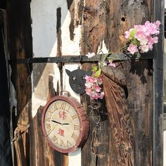 Clock, Cat, Wood and Plastic Cherry Blossom at Kapital Legs, Ebisu. (japan, blue hands, kountry)