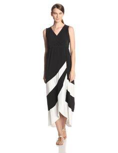Sandra Darren Women's Sleeveless V Neck Maxi Dress, Black/Ivory, 6 Sandra Darren,http://www.amazon.com/dp/B00I5LSZYE/ref=cm_sw_r_pi_dp_WPywtb0KBCMKC07C