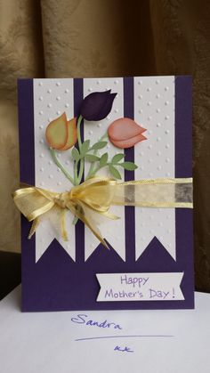 Mother's Day tulips using the bird builder punch