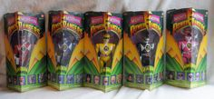 VINTAGE SET OF 5 MIGHTY MORPHIN POWER RANGERS FROM 1993
