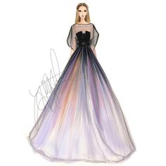 Elie Saab Spring 2014 Couture Fashion Illustration Print we have chosen the newest fashion clothes f Dress Design Sketches, Fashion Design Drawings, Fashion Sketches, Couture Fashion, Fashion Art, Runway Fashion, Trendy Fashion, Dress Fashion, Fashion Clothes