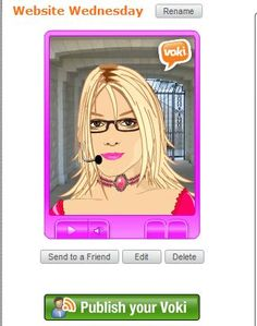 www.voki.com  Students create avatars and record their voice.