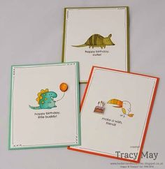 Adorable cards colored with the Blendabilities Markers by Stampin' Up! So cute!!!