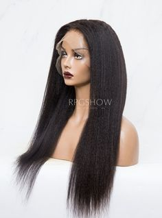 Kinky Straight Natural Hair Lace Front Wig - BEYOU022 Lace Front Wigs, Lace Wigs, Natural Hair Styles, Long Hair Styles, Afro Girl, High Ponytails, Wig Cap, Indian Hairstyles, Remy Hair