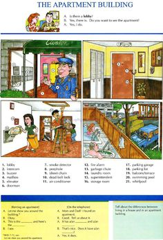 THE APARTMENT BUILDING - Pictures dictionary