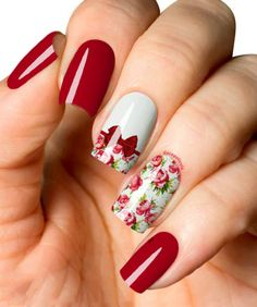 So Cute Vintage Floral Nail Art Designs You Might Wish to Try Now Gelish Nails, Toe Nails, Fingernail Designs, Nail Art Designs, Beautiful Nail Art, Gorgeous Nails, Floral Nail Art, Flower Nails, Perfect Nails