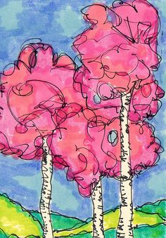 tree doodle- artist trading cards by karolann1229, via Flickr