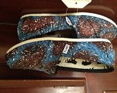 Custom TOMS- Hand Painted Galaxy/Space