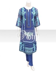 Item Type: Stitched Three Piece, Shirt Fabric:Pure Crinkle Chiffon, Includes: Front, Back, Sleeves,Raw Silk Trouser ,Pure Crinkle Chiffon Embroidered Dupatta