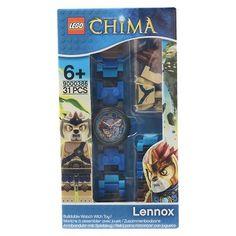 Lego Legends of Chima Lennox Kids Minifigure Interchangeable Links Watch, Kids Unisex, Blue