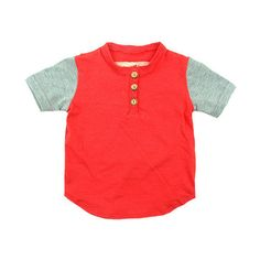 Short Sleeve Friendly Henley - mini mioche - organic infant clothing and kids clothes - made in Canada Baby Boy Fashion, Infant Clothing, Mini, Boys, Mens Tops, How To Make, Canada, Organic, Outfits