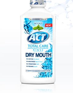 Act has a new fluoride rinse designed to help with dry mouth! I had a patient in this week who stated she prefers this rinse over Biotene mouth rinse and that this product has helped significantly with her dry mouth issues.