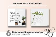 #GirlBoss Social Media Bundle by Savvy Collective Creative on @creativemarket Social media marketing at it`s best, use this ready to use design templates for a perfect strategy. Use it for quotes, tips, photos, etiquette, ideas, ports or what ever you need for your business.