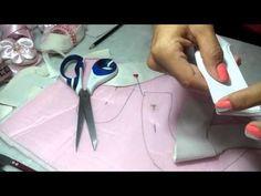 Como eu corto meu molde no tecido para sapatinho de bebe - YouTube