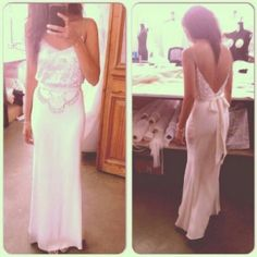 Backless spaghetti straps sweetheart a line chiffon sexy prom dresses 2014  party dresses ED1406