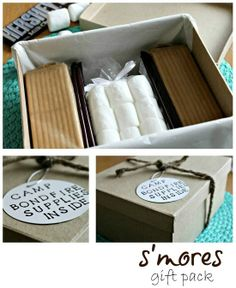How to make a s'mores gift pack #campbonfire #smores