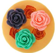 Allforhome 3 Cavities 18cm Mini Flower Sculpting Silicone Sugar Resin Craft DIY Moulds gum paste Cake Decorating Fondant Mold -- You can get more details by clicking on the image.
