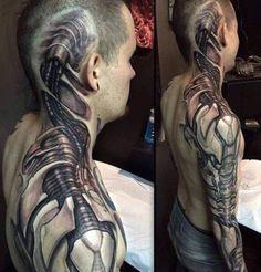 #tattoo #tattoos #biomechanical #biomechanicaltattoo