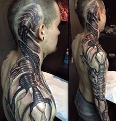 #tattoo #tattoos #biomechanical #biomechanicaltattoo