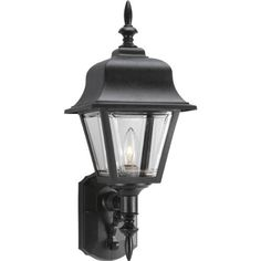 Progress Lighting P5656-31 Wall Lantern with Clear, Beveled Acrylic Panels, Black by Progress Lighting. $75.43. Amazon.com                                 Progress Lighting's Non-Metallic collection of outdoor lanterns is ideal for illuminating a home's exterior, entryways and landscape areas. The family includes coordinating wall-mount, post-mount and hanging lanterns designed for a variety of outdoor settings in residential environments.   Be Bold With Your Lighting Desig...