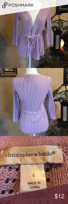 Beautiful Lavender Sweater 💐 Excellent Condition Christopher & Banks Sweaters