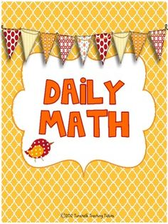 When finished with math series; a review. This packet includes 20 daily math pages (4 weeks of daily practice)Each daily math page contains:number writingnumber bondsten frames...