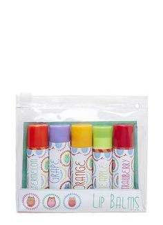 Owl lip balm pack with 5 sweet flavours.