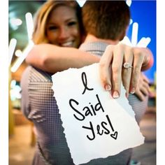 """Must have wedding announcement idea. Give yourself a few days to celebrate your recent engagement then capture a picture with a message to share the news!…"""
