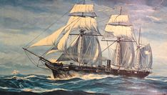 Off Cherbourg, France in two old shipmates squared off in the greatest maritime clash of the Civil War Uss Kearsarge, Alabama Vs, Old Sailing Ships, Civil War Art, Ship Paintings, Civil War Photos, Tall Ships, American Civil War, Civilization