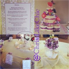 My family & I threw a baby shower tea party for my sister in law ;)
