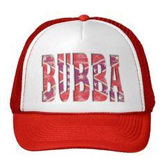 Bubba - Confederate Flag Redneck Letters Trucker Hats